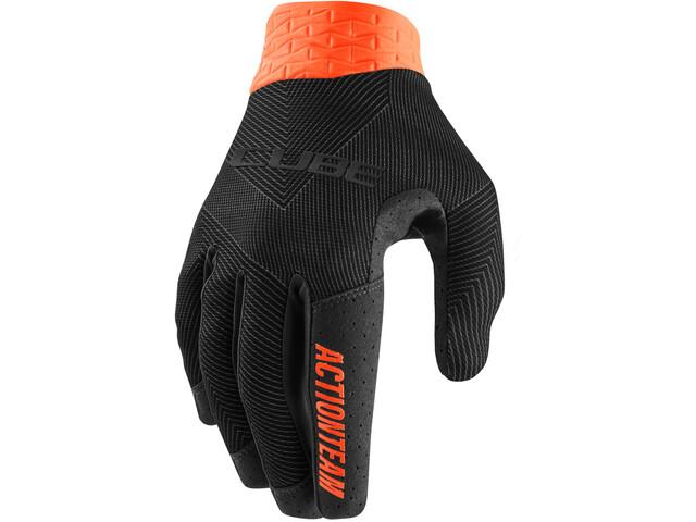 Cube Performance Long Finger Gloves, black/orange